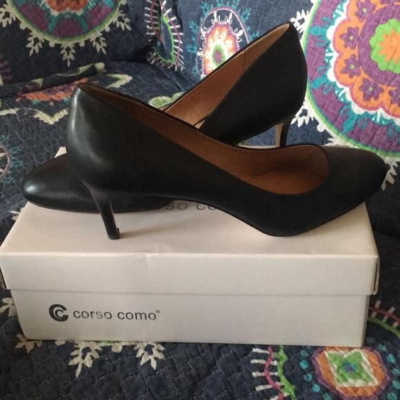 Corso Como Shoes - Corso Como Black leather heels
